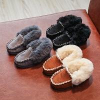 儿童棉鞋女童2018新款中大童冬季加厚加绒男童保暖鞋宝宝豆豆鞋