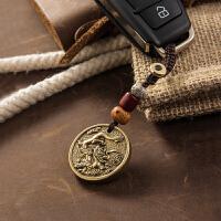 十二生肖钥匙链汽车钥匙扣黄铜钥匙圈环男士女士手工个性创意挂件