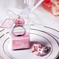 结婚用品 钻戒钻石钥匙扣婚庆回礼小礼品