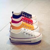 儿童帆布鞋男童鞋白小鞋女童休闲板鞋