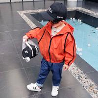 男童春装外套宝宝宽松夹克儿童蝙蝠衫上衣