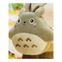 可爱龙猫暖手抱枕公仔娃娃毛绒玩具冬天女生孩抱着捂手枕插手玩偶 微笑款龙猫 三用款 有毯子(1米x1.7米)