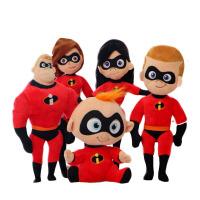 超人总动员玩具 超人总动员2毛绒玩具卡通人物玩偶超能先生女超人巴小杰抓机公仔 超.人总.动员2