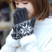 触屏手套女冬天户外防风手套防滑骑车手套女防寒加绒加厚保暖手套