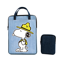 电脑包手提苹果戴尔联想可爱卡通手提包时尚薄牛仔布电源包