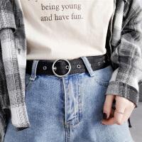 帆布铆钉腰带女士韩版简约百搭休闲针扣学生牛仔裤皮带女ins风酷