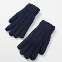 男士手套冬季保暖 防寒学生针织毛线可触屏手套男冬保暖加绒加厚