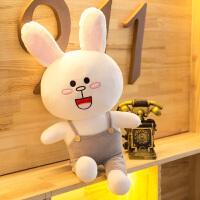 可爱毛绒玩具布朗熊公仔可妮兔抱枕韩国超萌抱抱熊娃娃女生日礼物 可妮兔-背带裤 1.1米(送35厘米经典款)