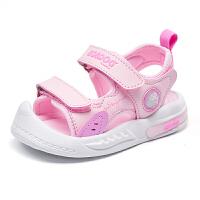 巴布豆bobdoghouse小童凉鞋2021新款夏季款男女童宝宝包头机能鞋子-樱花粉