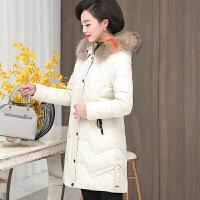 中年女冬装外套妈妈洋气羽绒棉衣中长款高贵中老年女装棉袄潮