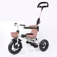 儿童三轮车1-3岁宝宝手推车折叠婴幼儿童脚踏车小孩YW07