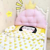 纯棉公主大靠背双人床头靠垫儿童榻榻米软包沙发靠枕含芯拆洗