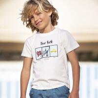 davebella戴维贝拉kids2020夏季新款男童短袖T恤中大童DKS13419-1