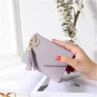 茉蒂菲莉 钱包 新款韩版女式流苏吊坠荔枝纹学生卡包零钱包女士钱夹