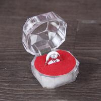 婚庆用品结婚道具仿真假钻石情侣对戒结婚饰品假戒指810# 17号一个