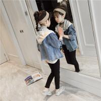 女童牛仔外套春装中大童儿童时尚洋气上衣休闲童装潮