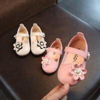 2018春秋女宝宝学步鞋子单鞋1-2-3岁半婴儿皮鞋幼儿软底公主童鞋