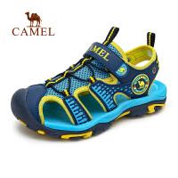 camel骆驼户外青少儿童款沙滩鞋 新款防撞防滑护脚沙滩凉鞋