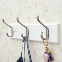 挂衣钩 创意双钩架构墙上壁挂衣帽架转角浴室卧室门后挂钩木质加挂衣架
