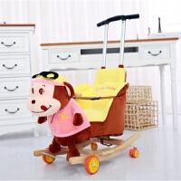 小木马摇摇马 实木两用带音乐婴儿玩具儿童摇椅摇摇车小孩周岁礼物