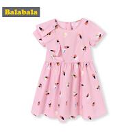 巴拉巴拉女童裙子中大童夏装2019新款童装儿童连衣裙时尚短袖长裙