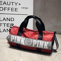 短途旅行包防水大容量轻便旅行袋男女手提运动健身包圆筒包斜挎包 中