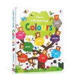 顺丰发货 英文原版 Usborne Lift The Flap Colours Book 儿童色彩认知 启蒙英语翻翻纸