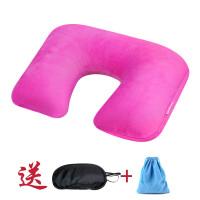 新款户外旅行枕头便携护颈枕时尚舒适充气u型枕充气枕