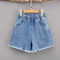 女童牛仔短裤外穿毛边中大童12岁15女孩夏季时尚儿童热裤