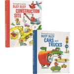 英文原版 Richard Scarry's Busy 纸板书2册 斯凯瑞 交通工具 儿童启蒙阅读