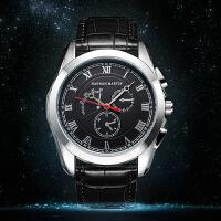 日本机芯男士运动休闲手表罗马数字防水石英皮带手表