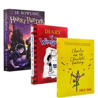 英文原版小说3册查理与巧克力工厂 /Wonder奇迹男孩/Diary of a Wimpy Kid 畅销书进口桥梁阅读