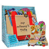 顺丰包邮 英文原版绘本 Workman My Mommy s Tote 我妈妈的手提包/皮包立体书 操作书 纸板翻翻书