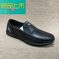 新品上市�啻a�理真皮18冬新款男鞋�^�优Fぼ�底舒�m男式商�招蓍e男皮鞋 黑色