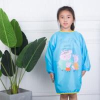 防水罩衣画画衣写毛笔字大童幼儿园宝宝反穿衣围裙