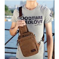 时尚斜挎包   休闲帆布包  风尚 胸包男运动旅游包  单肩包   多功能小跨包