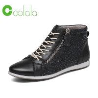红蜻蜓旗下品牌 COOLALA女鞋秋冬休闲鞋鞋子女高帮鞋HTB6825