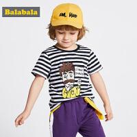 【1件7折价:41.93】巴拉巴拉童装男童t恤儿童夏装新款宝宝打底衫短袖纯棉涂鸦潮