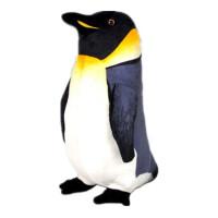 企鹅 海洋馆仿真小企鹅公仔 布娃娃大号毛绒玩具玩偶抱枕 黑色