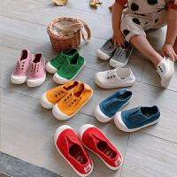 女童懒人鞋儿童帆布鞋百搭女宝宝童鞋