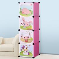 蜗家卡通衣柜简易儿童宝宝婴儿收纳柜 组合塑料树脂组装衣橱衣柜
