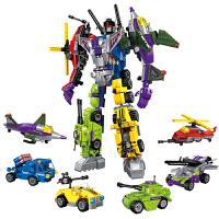 积木拼装变形机器人金刚组装玩具男孩子6-8-12岁生日礼物 6合1毁灭者战神