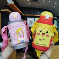316不锈钢韩版卡通图案保温杯儿童保温杯男女学生水杯子便携随行两用水杯子500ML