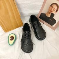 2019春季新款日系大头皮鞋女式低帮系带英伦学院风单鞋女厂家直销