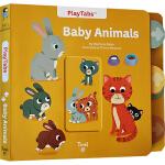 英文原版 Baby Animals 推拉机关纸板操作书 动物科普百科绘本 幼儿STEM启蒙图画书 儿童启蒙认知 Twi