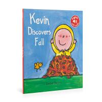 英文原版 Kevin In Autumn 凯文在秋天 低幼绘本 0-6岁 儿童图画书 亲子阅读