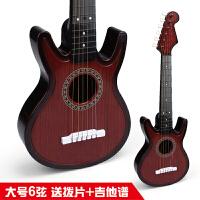 大号尤克里里初学者 儿童玩具吉他可弹奏音乐器男孩女孩c 6弦大号黑桃木 送拨片+乐谱