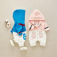 新生儿春秋装衣服婴儿连体衣男女宝宝哈衣长袖春装爬服