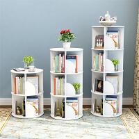 落地简易书架学生置物架创意儿童书架收纳简约现代360度旋转书架