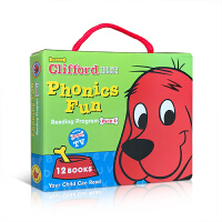 英文原版【12册】 Clifford's Phonics Fun Box Set #4 大红狗克利福德系列:趣味拼读4